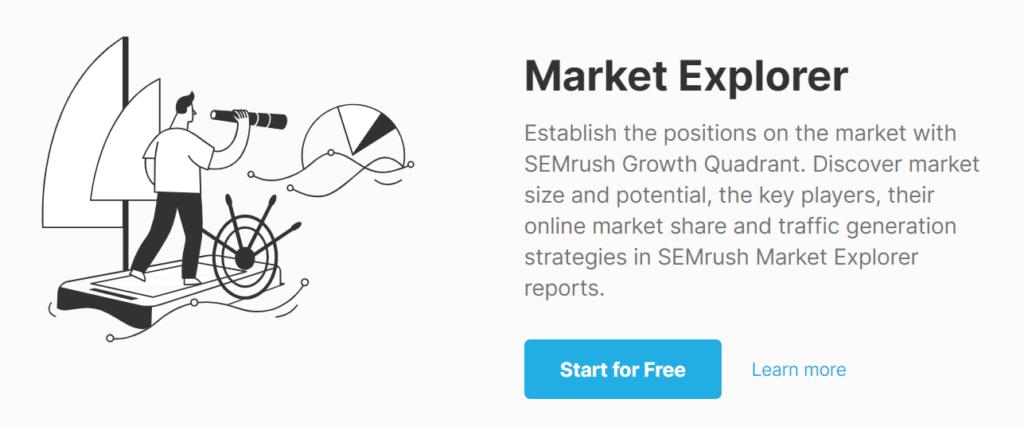 SEMrush Market Explorer
