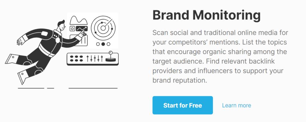 SEMrush Competitor PR Monitoring
